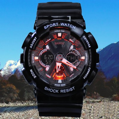 Гаджет   SanDa 226 LED Military Watch Dual Movt Water Resistant Muliti - function for Outdoor Sports Sports Watches