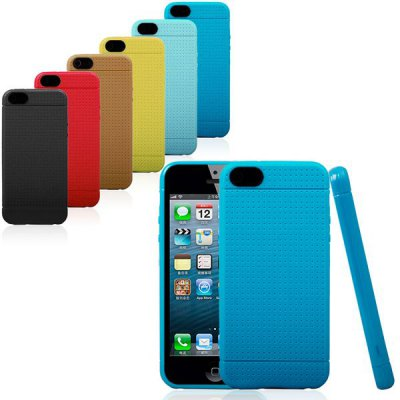 Гаджет   TPU Phone Cover Protector Back Case with Mesh Design for iPhone 5 5S iPhone Cases/Covers