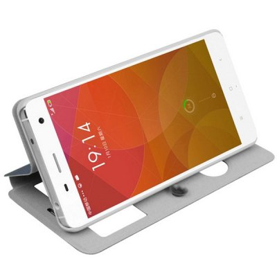 Фотография Mofi Phone Cover PU Case Skin with Window Stand Function for Xiaomi 4