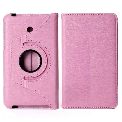 360 Degree Rotating Litchi Pattern Elastic Belt Stand Leather Case
