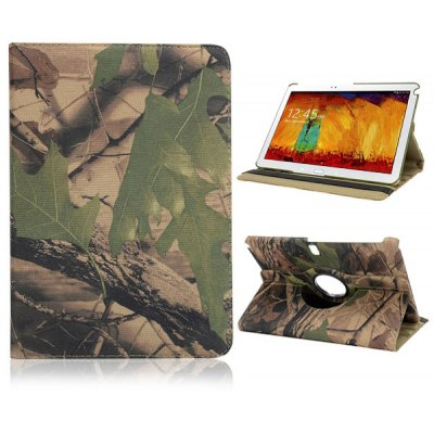 360 Degree Rotatable Flip Foldable Elastic Belt Stand Camouflage PC Case for Samsung Galaxy Note 10.1 2014 Edition P600