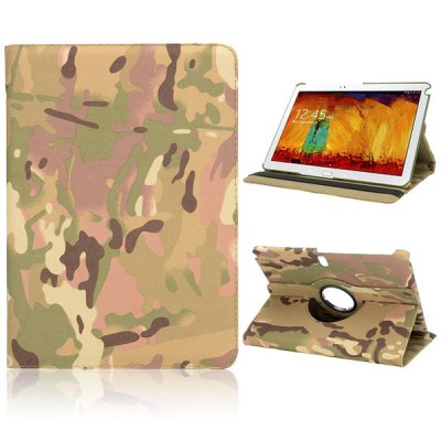 Фотография 360 Degree Rotatable Flip Foldable Elastic Belt Stand Camouflage PC Case for Samsung Galaxy Note 10.1 2014 Edition P600