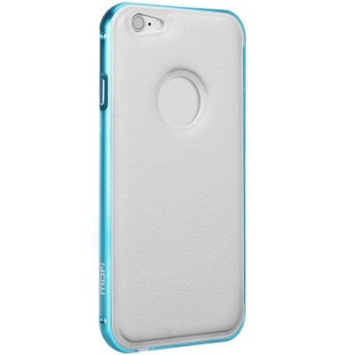 ФОТО Mofi Frame Style Aluminium Alloy Bumper with PU Back Case for iPhone 6  -  4.7 inches