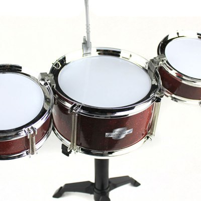 Гаджет   Plastic + Metal Material Kids Size Simulate Drum Set Toy with Cymbals Stands Stool Sticks Classic & Retro Toys