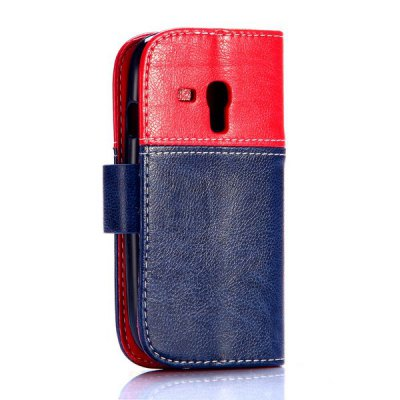 ФОТО Smiling Face Pattern Magnetic Flip Stand PU Leather Case for Samsung Galaxy S3 Mini i8190