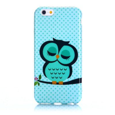 Owl Pattern 4.7 inch TPU Cover Case Protector Skin for iPhone 6