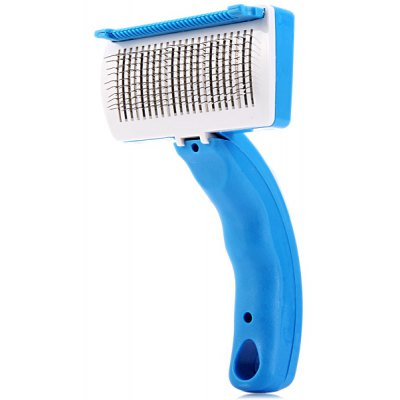 Grooming Brush with Trimmer Attachment