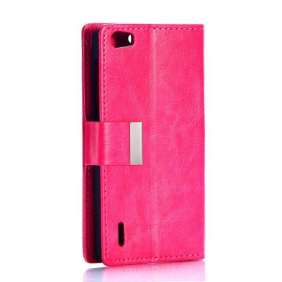 Гаджет   Business Style Crystal Grain Pattern Card Slots PU Leather Full Body Case for Huawei Honor 6 Other Cases/Covers