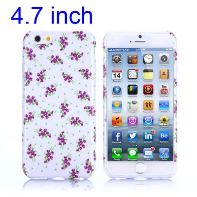 Flower Pattern 4.7 inch TPU Cover Case Protector Skin for iPhone 6