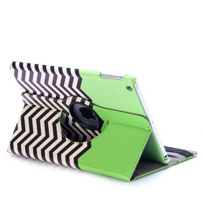 Фотография 360 Rotating Wave Design Cover Protector PU + PC Case with Stand Function for iPad Air