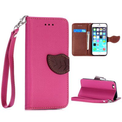 4.7 inch Lichee Pattern Cover TPU + PU Protector Case for iPhone 6
