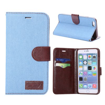 PU + TPU Cover Jean Cloth Design Case Skin with Card Holder Stand Function for 5.5 inch iPhone 6 PlusiPhone Cases/Covers<br>PU + TPU Cover Jean Cloth Design Case Skin with Card Holder Stand Function for 5.5 inch iPhone 6 Plus<br><br>Compatible for Apple: iPhone 6 Plus<br>Features: Full Body Cases, Cases with Stand, With Credit Card Holder<br>Material: PU Leather, TPU<br>Style: Novelty, Funny, Modern<br>Color: Black, Blue, Cadetblue<br>Product weight : 0.080 kg<br>Package weight : 0.120 kg<br>Product size (L x W x H): 15 x 8 x 1 cm / 5.90 x 3.14 x 0.39 inches<br>Package size (L x W x H) : 16 x 9 x 2 cm / 6.29 x 3.54 x 0.79 inches<br>Package contents: 1 x Case