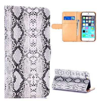 Гаджет   PC + PU Cover Snakeskin Pattern Case with Card Holder Stand Function for iPhone 6  -  4.7 inch