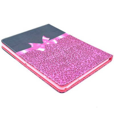 Фотография Leopard Print Foldable TPU + Leather Case with Holder and Wallet Function for Samsung Galaxy Note 10.1 2014 Edition P600