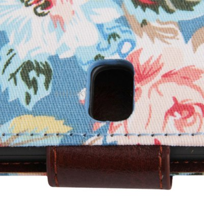 Фотография Pretty Peony Pattern Foldable Flip Stand Leather Case