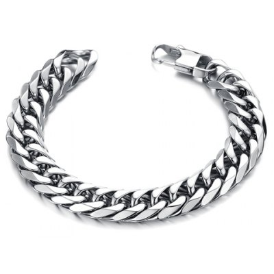 Chic Stylish Solid Color Link Chain Bracelet For Men