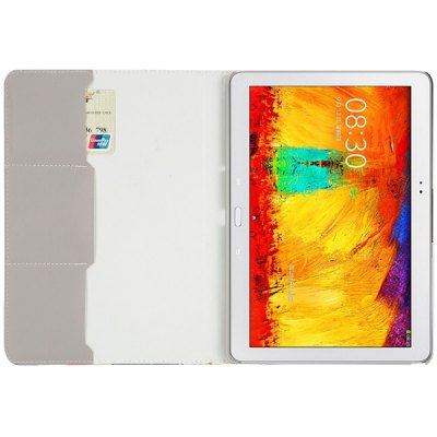 Фотография Foldable Folio Card Slots Stand Leather Case with Butterfly Pattern for Samsung Galaxy Note 10.1 2014 Edition P600