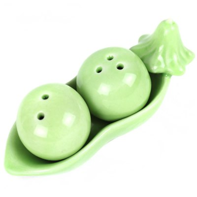 Pea Pattern Ceramic Seasoning Bottle Condiment Cruet for Kitchen Tools