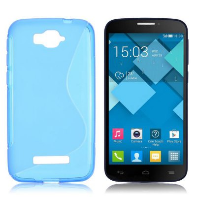 S Shape TPU Back Cover Case for Alcatel One Touch Pop C7 OT-7040D