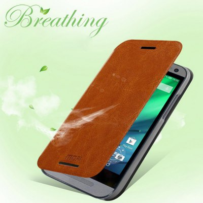Mofi Phone Cover PU Case Skin with Stand Function for HTC One M8 Mini