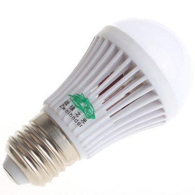 Zweihnder 280LM E27 3W SMD 2835 10 LEDs Lights Globe Bulb with Colling Fan ( 3000  -  3500K )LED Light Bulbs<br>Zweihnder 280LM E27 3W SMD 2835 10 LEDs Lights Globe Bulb with Colling Fan ( 3000  -  3500K )<br><br>Brand : Zweihnder<br>Base Type: E27<br>Type: Ball Bulbs<br>Output Power: 3W<br>Emitter Type: SMD-2835 LED<br>Total Emitters: 10 LEDs<br>Actual Lumen(s): 280Lm<br>Wavelength/Color Temperature: 3000-3500K, 5500-6000K<br>Voltage (V): AC 220-240<br>Angle: 180 degrees<br>Features: Energy Saving, Low Power Consumption, Long Life Expectancy<br>Function: Commercial Lighting, Studio and Exhibition Lighting, Home Lighting<br>Available Light Color: Warm White, Cold White<br>Sheathing Material: PC<br>Product Weight: 0.026 kg<br>Package Weight: 0.038 kg<br>Product Size (L x W x H): 9.6 x 5 x 5 cm / 3.77 x 1.97 x 1.97 inches<br>Package Size (L x W x H): 10.2 x 5.3 x 5.3 cm / 4.01 x 2.08 x 2.08 inches<br>Package Contents: 1 x Zweihnder E27 3W 10 SMD 2835 LEDs 280Lm Ball Bulb