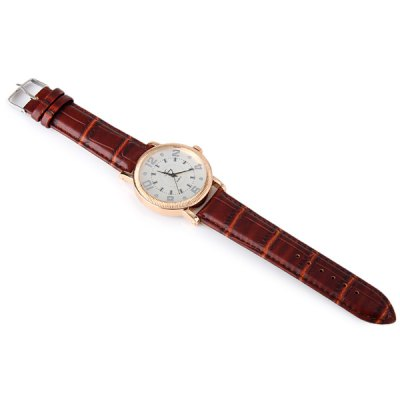 Time Quartz Watch Wristwatch Round Dial Leather Strap for MenMens Watches<br>Time Quartz Watch Wristwatch Round Dial Leather Strap for Men<br><br>Watches categories: Male table<br>Watch style: Fashion<br>Available color: Black, Brown<br>Movement type: Quartz watch<br>Shape of the dial: Round<br>Display type: Analog<br>Case material: Stainless steel<br>Band material: Leather<br>Clasp type: Pin buckle<br>The dial thickness: 1.2 cm / 0.47 inches<br>The dial diameter: 4.4 cm / 1.73 inches<br>The band width: 2.0 cm / 0.79 inches<br>Product weight: 0.052 kg<br>Package weight: 0.102 kg<br>Product size (L x W x H): 25.2 x 4.4 x 1.2 cm / 9.90 x 1.73 x 0.47 inches<br>Package size (L x W x H): 26.2 x 5.4 x 2.2 cm / 10.30 x 2.12 x 0.86 inches<br>Package Contents: 1 x Time Watch