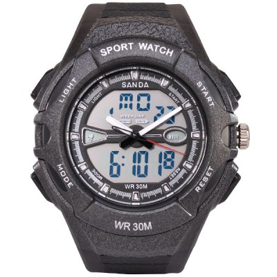 SanDa 707 Outdoor Sports Military Dual-movt Watch