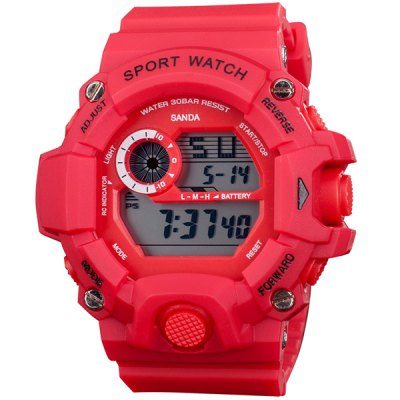 Гаджет   SanDa 326 Water Resistant Wristwatch Digital LED Military Watch Multifunction for Outdoor Sports Sports Watches