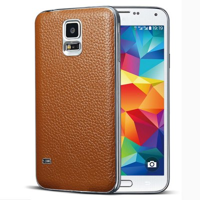 ФОТО Moby Genuine Leather Phone Back Case of Lichee Pattern Design for Samsung Galaxy Note S5