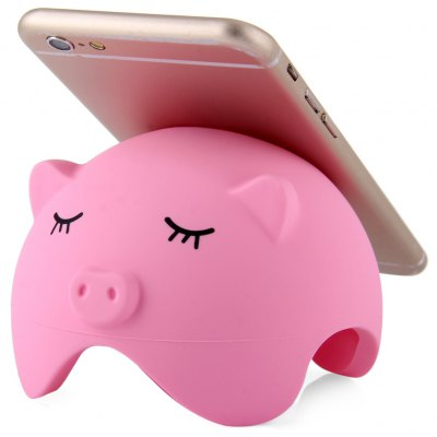 Pig Shaped Silicone Suction Stand Wire Storage