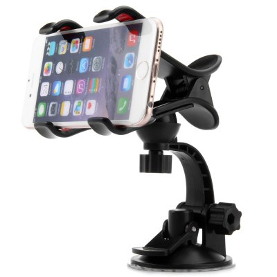 Phone Car Holder of Clip Stand and Sucker Mount