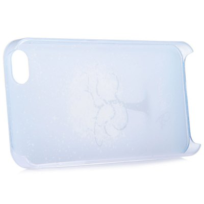 ФОТО Snowflake Style Protective Back Cover Case with PC Material for iPhone 4 / 4S