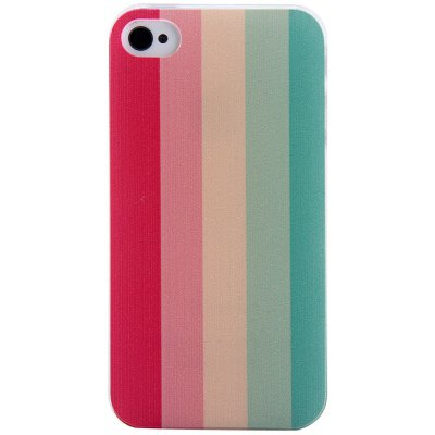 Colorful Stripe Style Protective Back Cover Case with PC Material for iPhone 4 / 4S