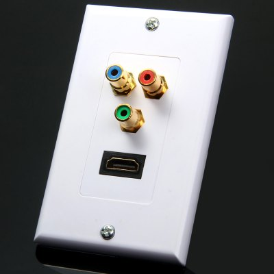 TL - 039 3 RCA HDMI Audio Video Wall Face Panel