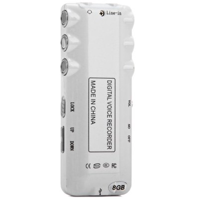 Фотография K6 Professional 2 in 1 8GB LCD Digital Voice Recorder MP3 Player with Real Time Function