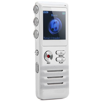 K6 Professional 2 in 1 8GB LCD Digital Voice Recorder MP3 Player with Real Time Function