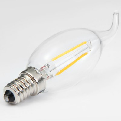 New Arrival YouOKLight E14 1.8W 2 x COB 180LM 3000K Edison Tailed Candle Bulbs LED Filament Light ( AC 220V )