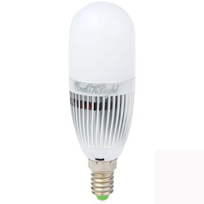 YouOKLight E14 5W 480Lm 3000K 28 SMD 2835 LEDs Warm White Bulb Light  -  Silver Frosted 110  -  250V