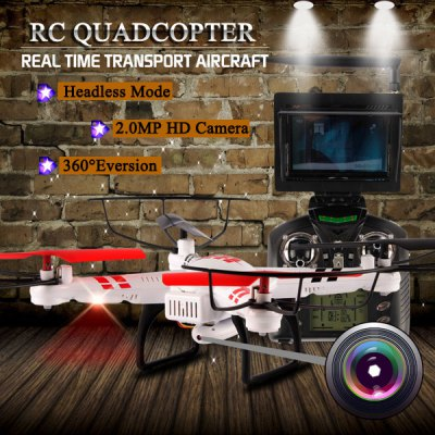 ФОТО WLtoys V686G 4CH 5.8G FPV Real Time Transmission 2.4G RC Quadcopter with 2.0MP Camera Headless Mode Auto  -  Return Function