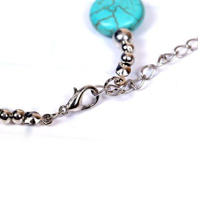 Retro Style Turquoise Round Design Bracelet For Women