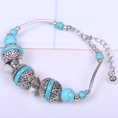 Beads Faux Turquoise Bracelet