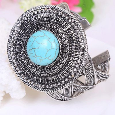 Ethnic Womens Turquoise Printed BraceletBracelets &amp; Bangles<br>Ethnic Womens Turquoise Printed Bracelet<br><br>Item Type: Charm Bracelet<br>Gender: For Women<br>Chain Type: Link Chain<br>Style: Trendy<br>Shape/Pattern: Others<br>Weight: 0.079KG<br>Package Contents: 1 x Bracelet