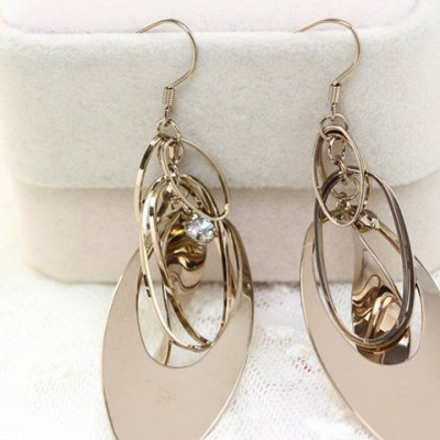 Pair of Stylish Womens Openwork Ellispe Layered EarringsEarrings<br>Pair of Stylish Womens Openwork Ellispe Layered Earrings<br><br>Earring Type: Drop Earrings<br>Gender: For Women<br>Style: Trendy<br>Shape/Pattern: Geometric<br>Weight: 0.050KG<br>Package Contents: 1 x Earring(Pair)