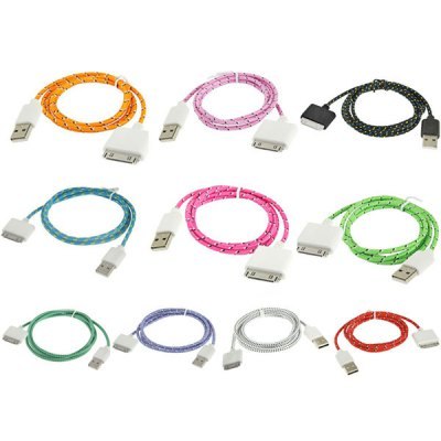 Portable Style Fabric 30 Pin to USB Sync Data Charging Cable for iPhone 4 / 4S / iPad 2 / New iPad  -   2MiPhone Cables &amp; Adapters<br>Portable Style Fabric 30 Pin to USB Sync Data Charging Cable for iPhone 4 / 4S / iPad 2 / New iPad  -   2M<br><br>Compatibility: iPhone 4,iPhone 4S,Ipad 2,The New Ipad<br>Type: Cable<br>Color: Multi-color<br>Material: Others<br>Interface Type: 30 pin<br>Cable Length (cm): 200cm<br>Package weight: 0.080 KG<br>Package size (L x W x H): 5.00 x 4.00 x 1.00 cm / 1.97 x 1.57 x 0.39 inches<br>Package Contents: 1 x USB Cable