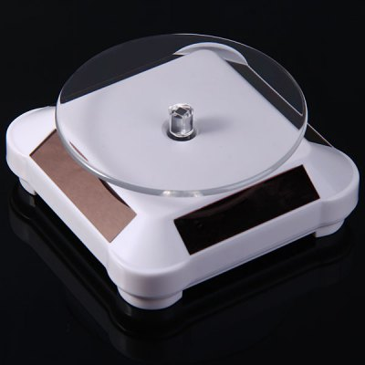 YXV-SC1904 Solar Power Turntable Rotating Showcase Rotary Display Stand for Digital Camera Watches Mobile Phone MP3