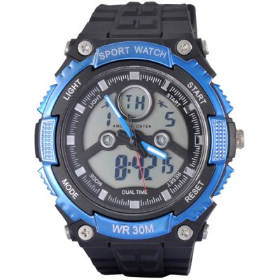 SanDa 709 Dual Time Military Outdoor Sports LED Watch