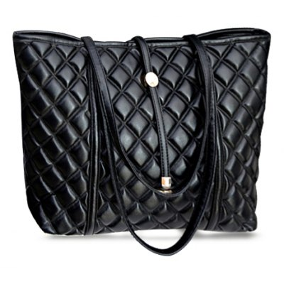 Checked Design Shoulder Bag For Women