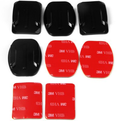 2 x Flat and 2 x Curved Mounts with 4pcs 3M Adhesive Pads