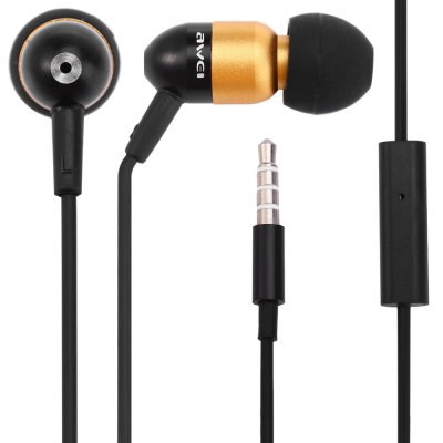 Awei ESQ8i 1.2m Cable In - ear Earphone with Mic for Smartphone Tablet PC