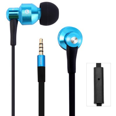 Awei ES500i 1.2m Flat Cable Design In - ear Earphone with Mic for Smartphone Tablet PC